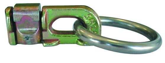 Airline-Ankerschienenzurrgurt, 50 mm Gurtbreite, mit Double Stud-Fitting mit Ring