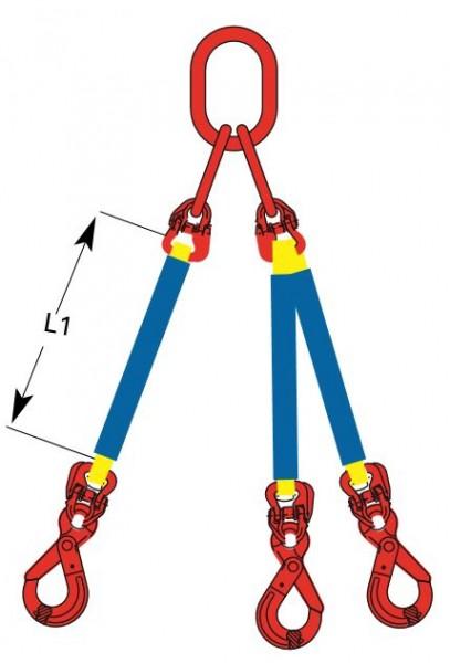DoLeicht R - Rundschlingengehänge, 3-strängig mit Ösenhaken OS-DD