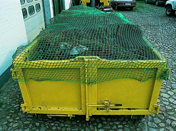 Container-Abdecknetz, knotenlos, Maschenweite 45 mm, umlaufende robuste Randeinfassung
