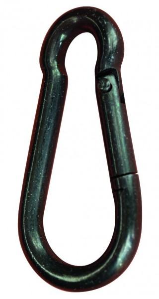 Karabinerhaken DIN 5299 Form C (ungestempelt), galvanisch schwarz verzinkt