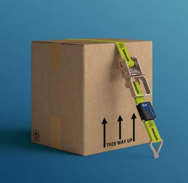 iGurt Druckratsche: Zurrgurt mit iGurt Vorspannkraft-Indikator