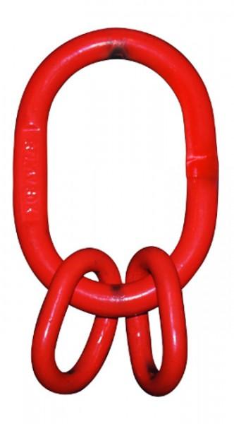 Sonderaufhängekopf nach DIN 15401 für 2-strängige Kettengehänge, für Einfachkrankhaken Nr. 8