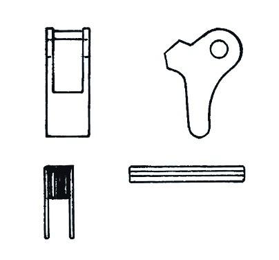 Ersatzteilgarnitur für selbstschließende CRO und CRF und COZW-Haken
