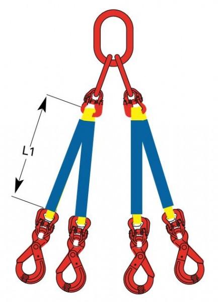 DoLeicht R - Rundschlingengehänge, 4-strängig mit Ösenhaken OS-DD