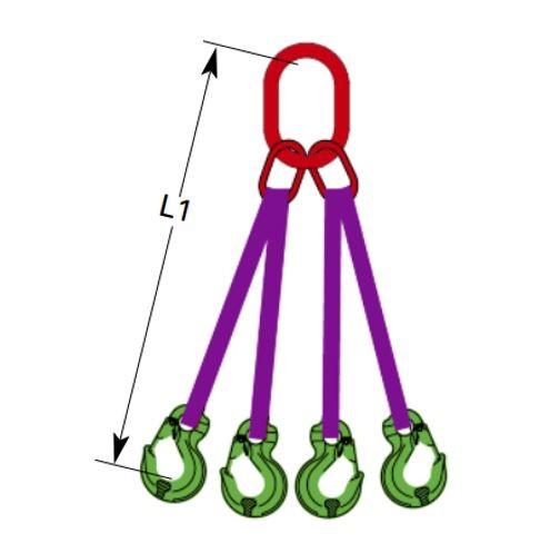 DoColor Bandgehänge, 4-strängig