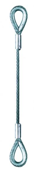 Lastschlinge mit Kauschen Form 6899 B, Seil mit Stahleinlage (Abb. 14)