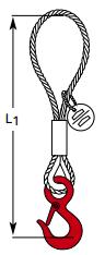 Adapterschlingen mit Ösenhaken mit Sicherung YOS