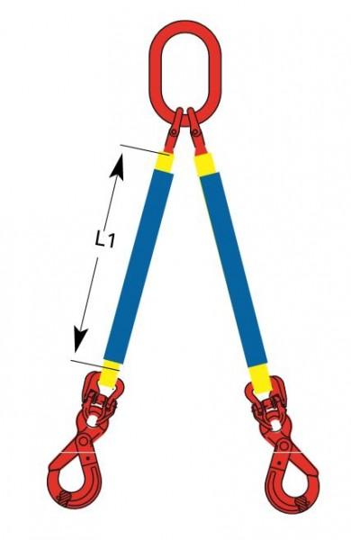 DoLeicht R - Rundschlingengehänge, 2-strängig mit Ösenhaken OS-DD