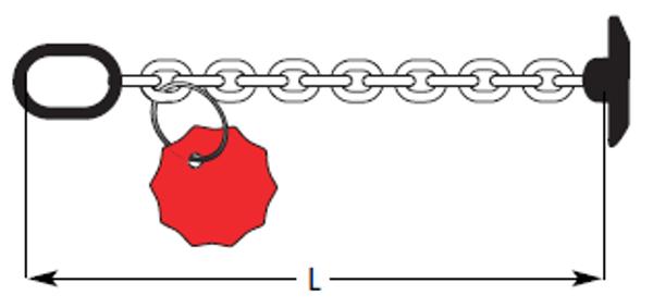 Knebelkette, zum Transport von Spundwandbohlen und Stahlprofilen, mit B-Glied und Knebel, 10mm Kette