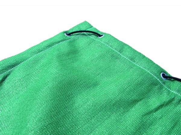 Bändchengewebeplane, luftdurchlässig, grün, alle 40 cm geöst