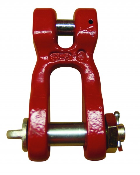 Gabelschäkel 0897 - 6+8mm/0862 ab 10 mm Güteklasse 8, Form C, mit Bolzen, Mutter und Splint