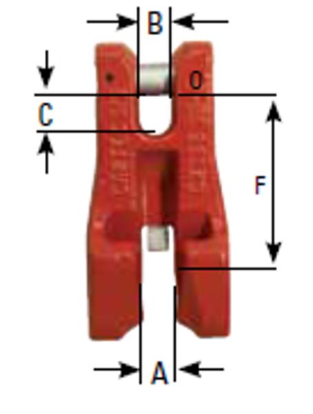 Verkürzungsklaue CX mit Sicherung