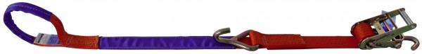 Pkw-Zurrgurt, 50mm Breite, mit Schlaufe für Felgensicherung
