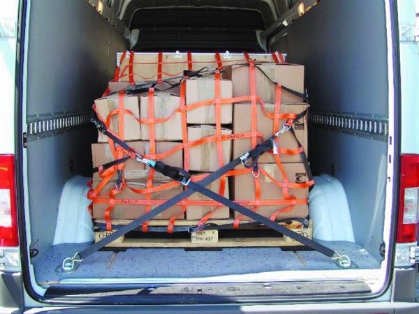 DoKEP ZK400/500/800, Typ 1, Gurtband-Netze für Kastenwagen, Pritschen und Anhänger