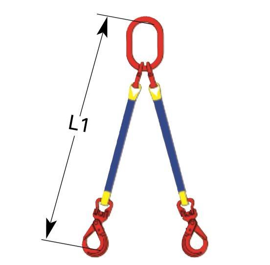 DoLeicht H, 2-strängig, System A mit selbstschließendem Ösenhaken OZ