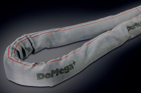 Schwerlast-Rundschlinge DoMega+ mit Hochleistungsfasern und Flex-Schlauch