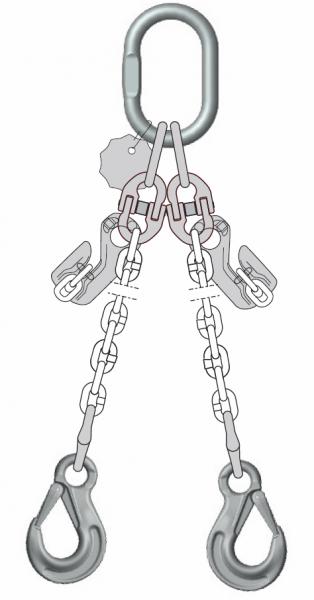 Anschlagketten DoKettPlus, 2-strängig, Güteklasse 10