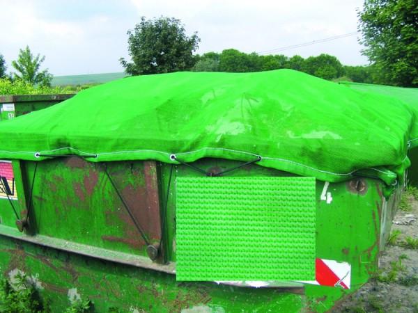 Container - Polyäthylen - Bändchengewebe, luftdurchlässig, Farbe: grün