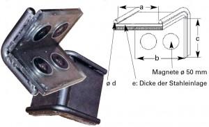 DoLex Schwerlastkantenschutzwinkel mit Magnet, mit Stahleinlage
