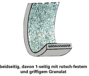 Festbeschichtung Granulat zweiseitig