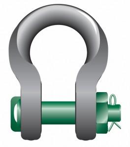 Green Pin Wide Body Schäkel