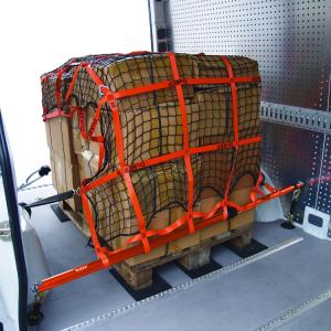 Zurrnetz DoKEP Beispiel Ladungssicherung Pakete